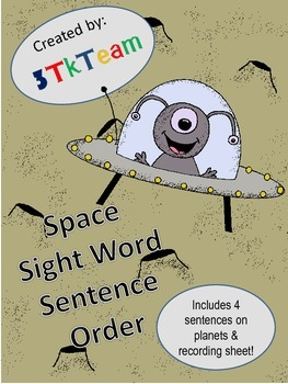 Space Sight Word Sentence Order