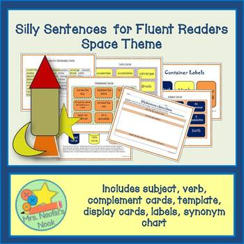 Silly Sentences Word Work Space