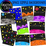 Space Simple Backgrounds {Creative Clips Clipart}