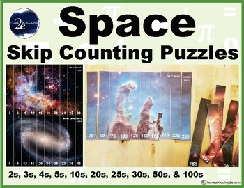 Space Skip Counting Puzzles
