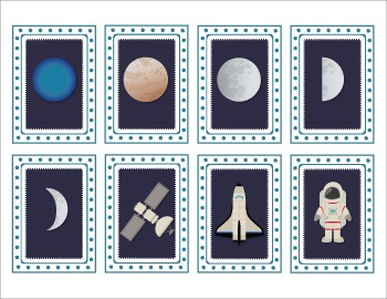 Space Snap Cards / Matching Pairs