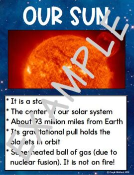 Space - Solar System Mini Posters - (Planets, Sun, Celestial Bodies)