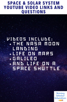Space & Solar System Video Links and Questions