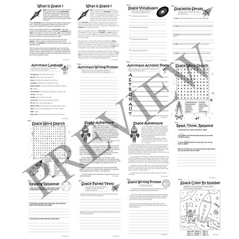 Space and Solar System Activity Packet