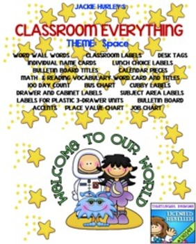 Space, Space, Space, Space   Beginning of School Everything! August!