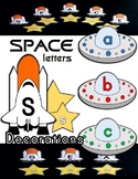 Spaceship / Star Space Letter Classroom Decorations