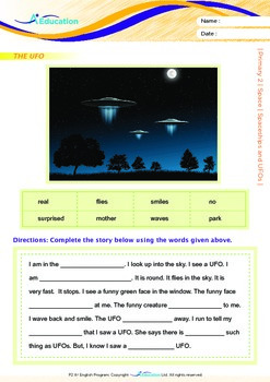Space - Spaceships and UFOs - Grade 2