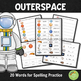 Space Spelling Words Practice