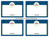 Space + Star Student Name Tags