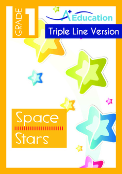 Space - Stars (I) - Grade 1 (with 'Triple-Track Writing Lines')
