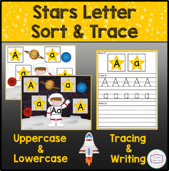 Space Stars Letter Sort & Trace