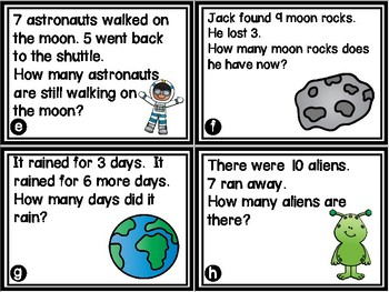 Space Story Problems - K.OA.A.2