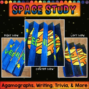 Space Study | Agamographs, Writing Prompts, Planet Trivia and MORE!