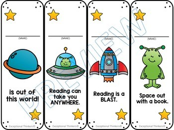 Space Study Bookmark Awards (FREE)