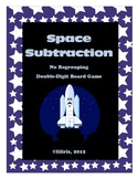 Space Subtraction Board Game - Double-Digit with No Regrouping
