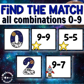 Space Subtraction Sorting for Math Centers or Hands-on Math Activities