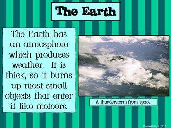 Space - Sun, Moon, Earth Presentation (PDF)