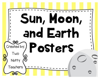 Space: Sun, Moon, and Earth Posters