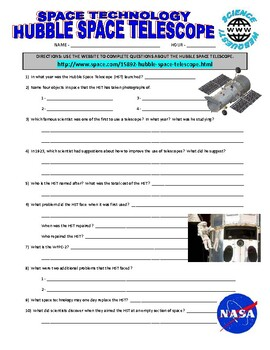 Space Technology : Hubble Space Telescope Webquest