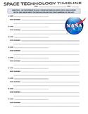 Space Technology Webquest (Famous Dates / Timeline / Space & Planets)