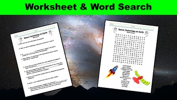 Space Technology on Earth No Prep Lesson w/ Worksheet, Power Point, and Activity