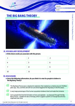 Space - The Big Bang Theory - Grade 12