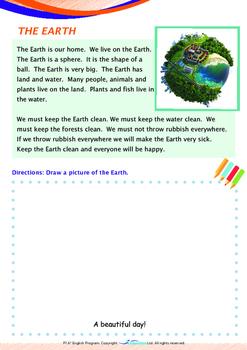 Space - The Earth (II) - Grade 1