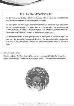 Space - The Earth's Atmosphere - Grade 3