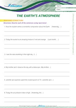 Space - The Earth's Atmosphere - Grade 6
