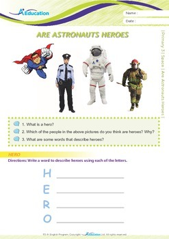 Space - Are Astronauts Heroes? - Grade 3