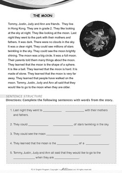 Space - The Moon (I) - Grade 2