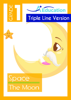 Space - The Moon (I) - Grade 1 (with 'Triple-Track Writing Lines')