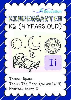 Space - The Moon (I): Short I - Kindergarten, K2 (4 years old)