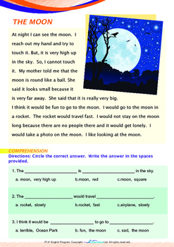 Space - The Moon (II) - Grade 1
