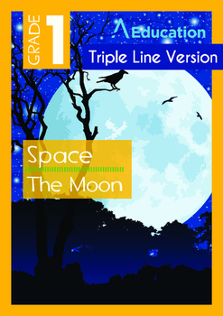 Space - The Moon (II) - Grade 1 (with 'Triple-Track Writin