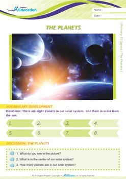 Space - The Planets - Grade 3