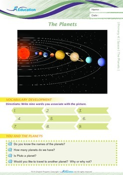 Space - The Planets - Grade 4