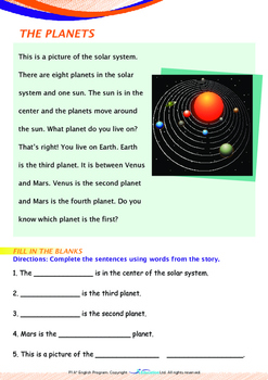 Space - The Solar System - Grade 1 (with 'Triple-Track Writing Lines')