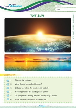 Space - The Sun - Grade 5