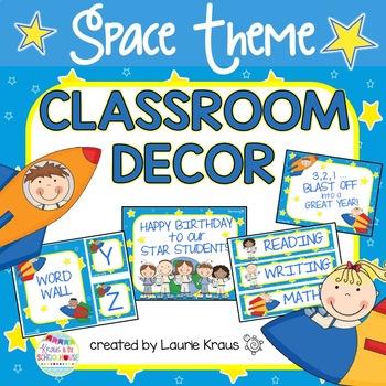 Space Theme Classroom Decor
