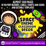 Space Theme Classroom Decor EDITABLE (Outer Space Classroo
