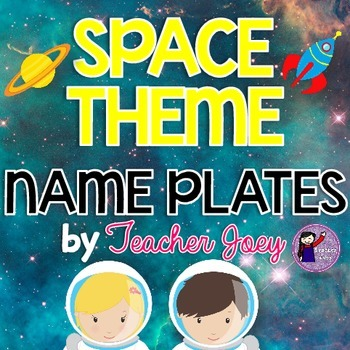 Space Theme Name Plates