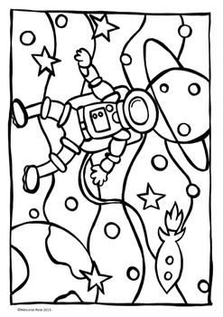Art Activities/coloring sheets - Space Theme