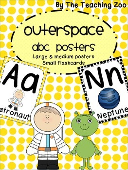Space Theme ABC Posters - Large, Small & Flashcards