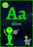 Space Theme Alphabet Classroom Decor
