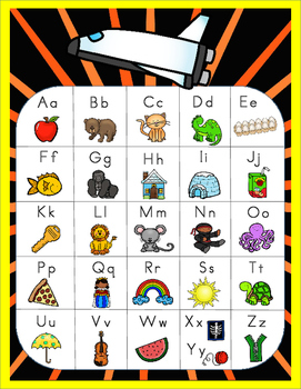 Space Theme - Alphabet Posters and Alphabet Chart