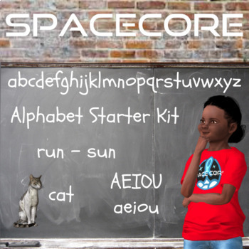 Space Theme Alphabet Starter Kit Bundle PreK & Kindergarten