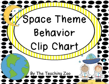 Space Theme Behavior Clip Chart