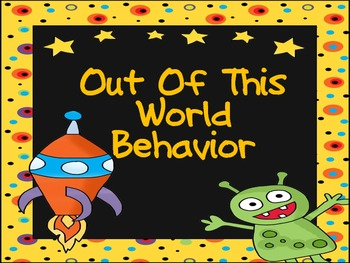 Space Theme Behavior Clip Chart for Elementary Classrooms