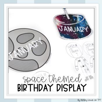 Space Theme Birthday Display